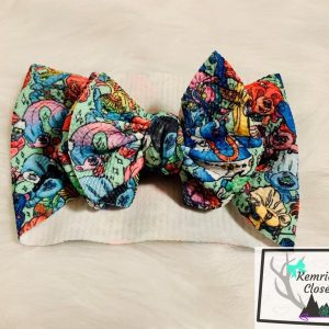 Trolls World Tour Head Wrap Front Bow