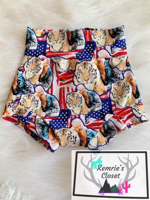 Tiger King American Flag Bummies