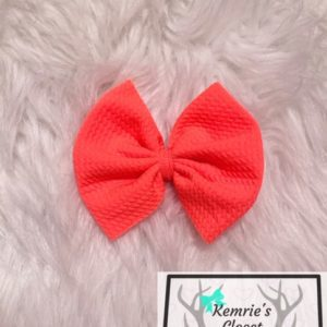 Bright Coral Bow