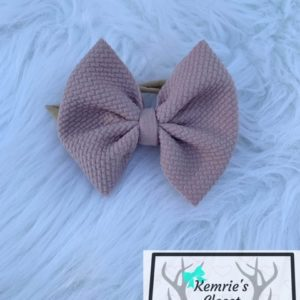 Dusty Rose Bow