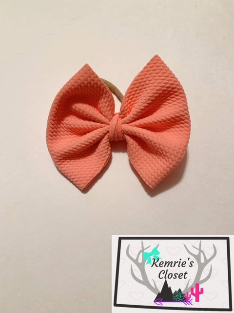 Bubble Pink Big Bow