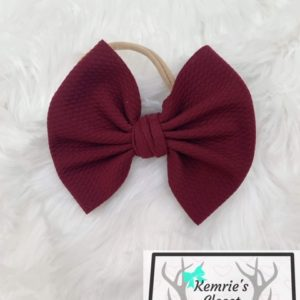 Burgundy Big Bow