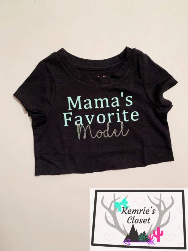 Mama's Favorite Model Crop Top