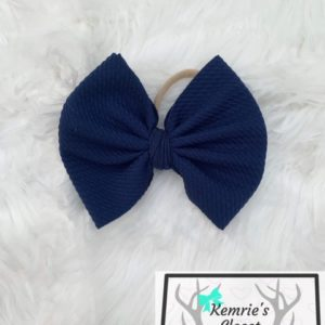 Navy Blue Big Bow