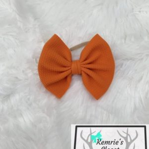 Pumpkin Orange Bow