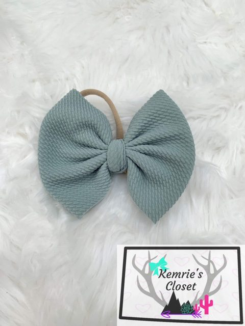 Sage Green Big Bow